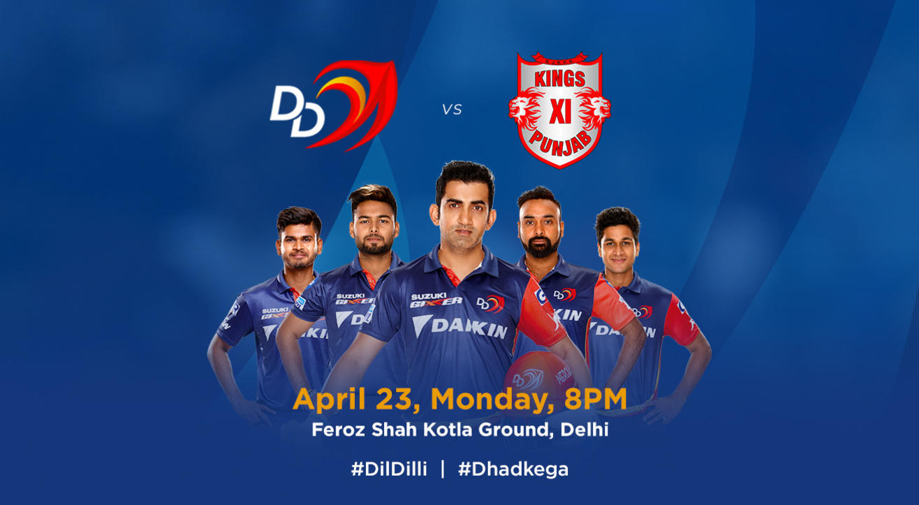 VIVO IPL 2018 - Match 22 - DD vs. Kings XI Punjab