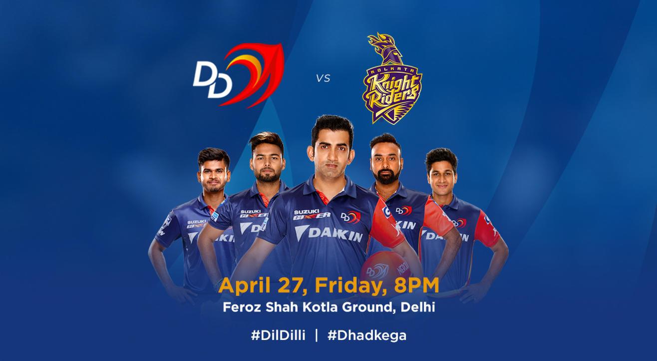 VIVO IPL 2018 - Match 26 - DD vs. Kolkata Knight Riders
