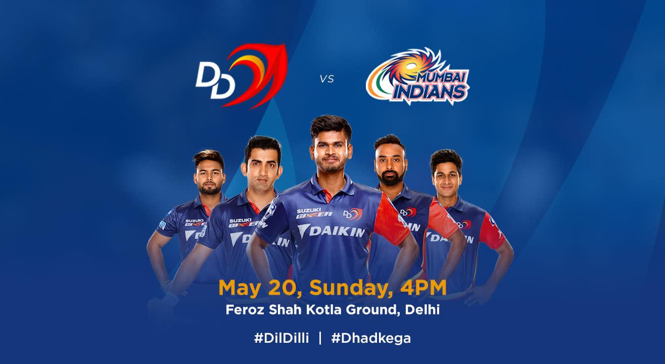 VIVO IPL 2018 - Match 55 - DD vs. Mumbai Indians