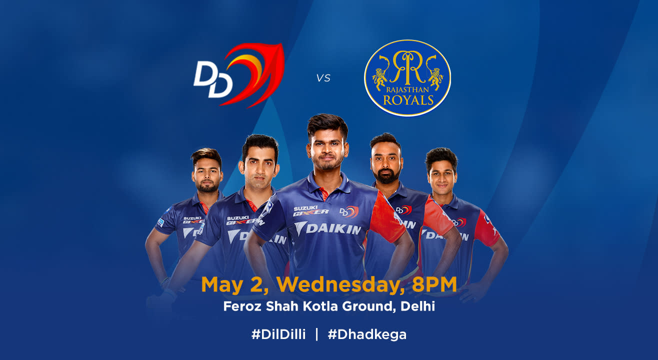 VIVO IPL 2018 - Match 32 - DD vs. Rajasthan Royals