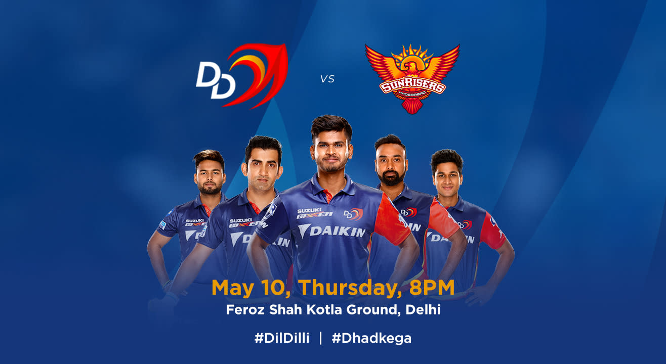 VIVO IPL 2018 - Match 42 - DD vs. Sunrisers Hyderabad