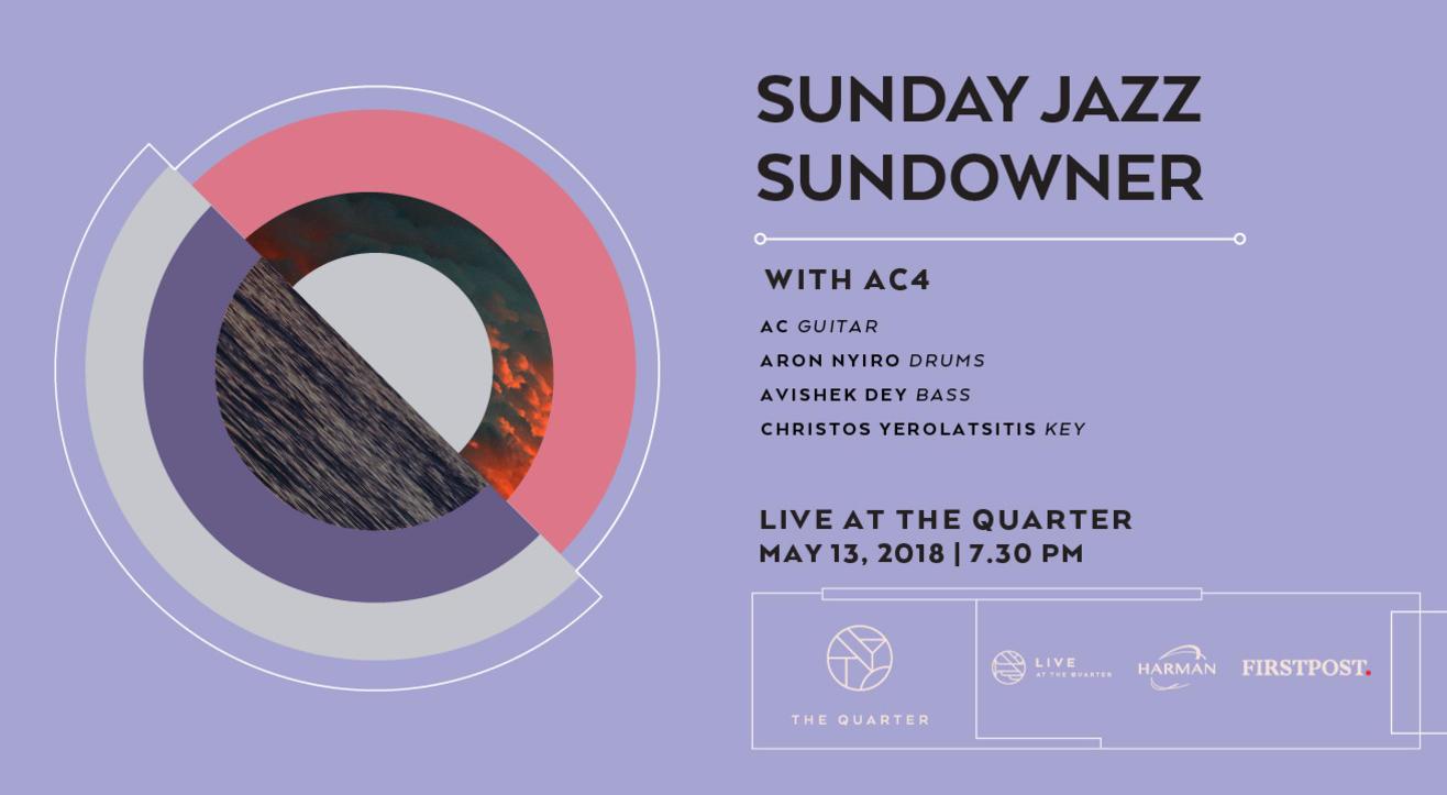 Sunday Jazz Sundowner with AC4  at The Quarter
