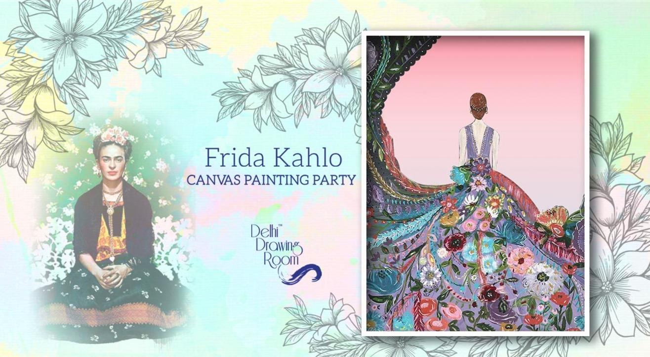 Frida Kahlo - Canvas Painting Party Delhi Drawing Room