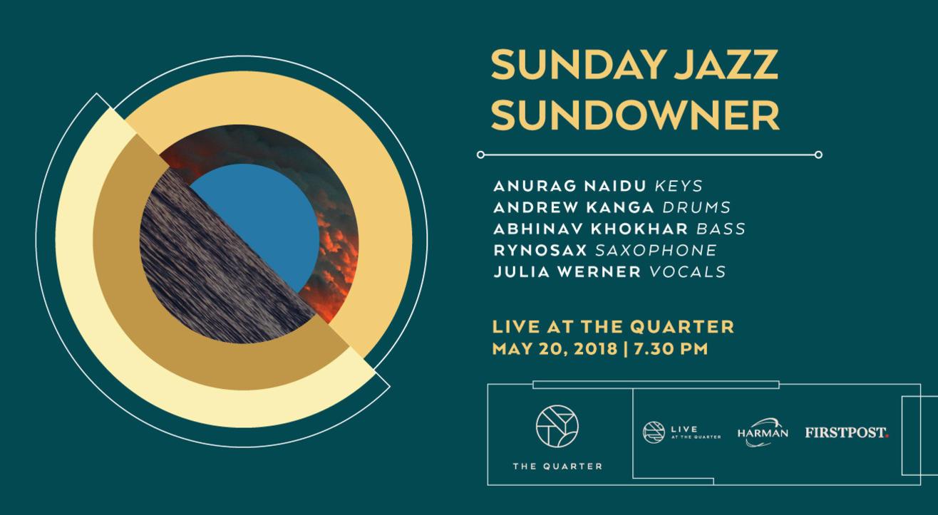 Sunday Jazz Sundowner with Anurag, Andrew, Abhinav and Rynosax at The Quarter