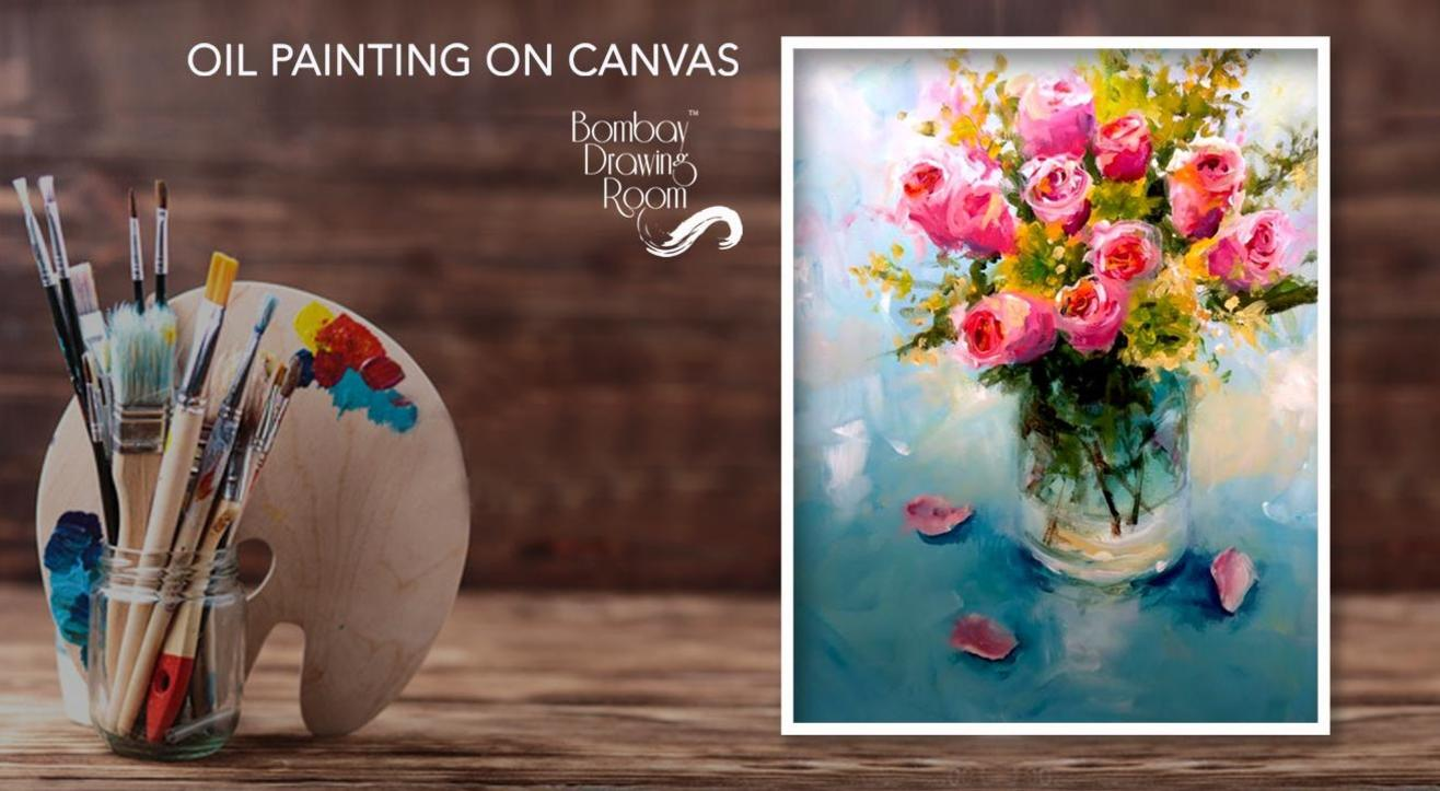 Oil Painting on Canvas - Painting Party by Bombay Drawing Room