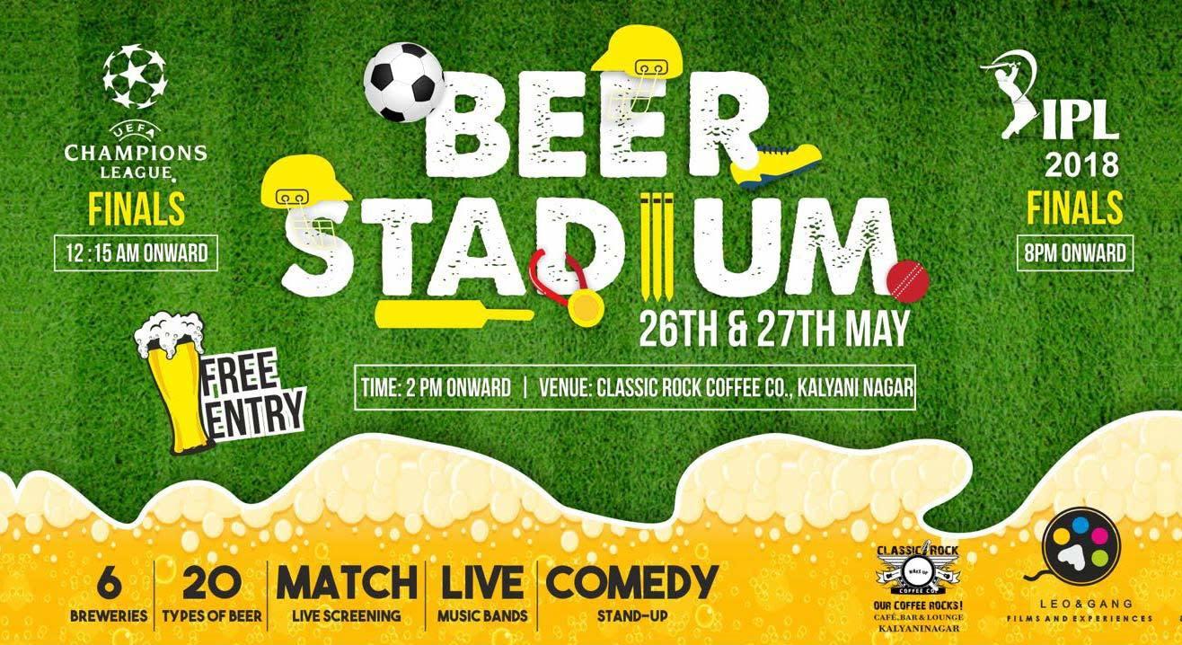 Beer Stadium: Live UCL & IPL Screening