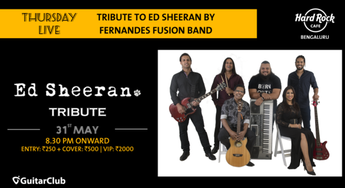 Ed Sheeran Tribute by Fernandes Fusion Band