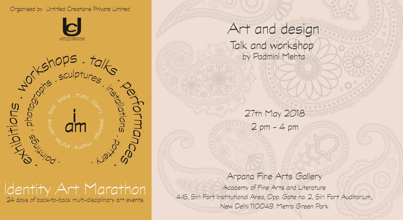 Art and design (Talk and workshop) by Padmini Mehta