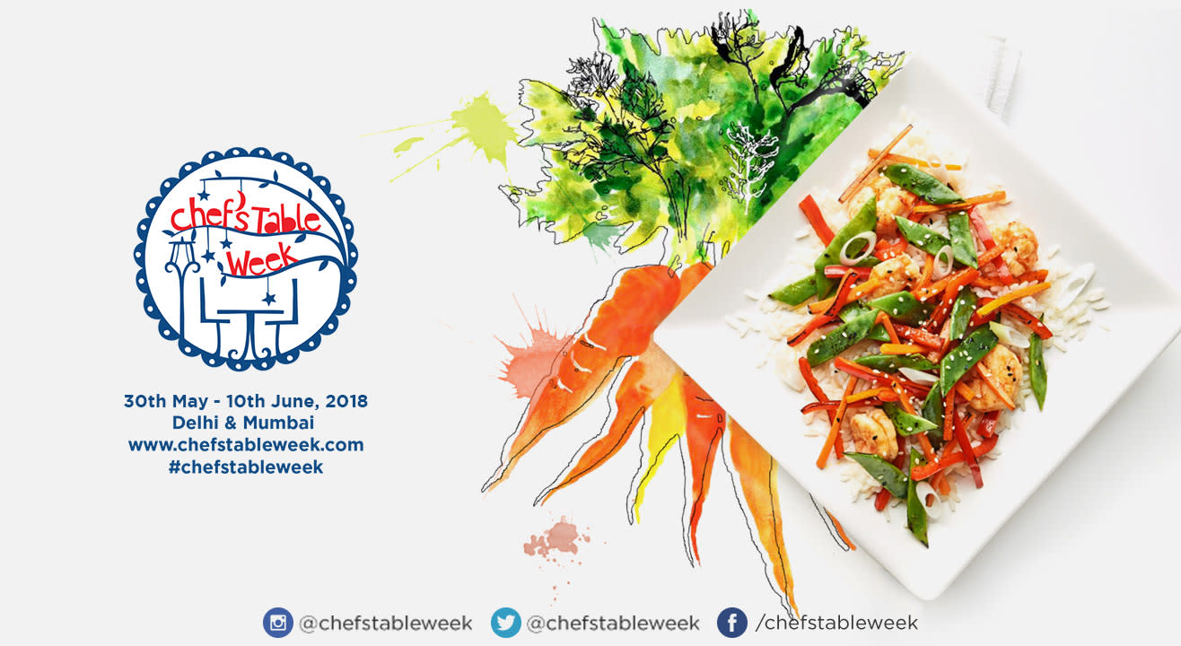 Chef's Table Week: 30th May – 10th June, 2018