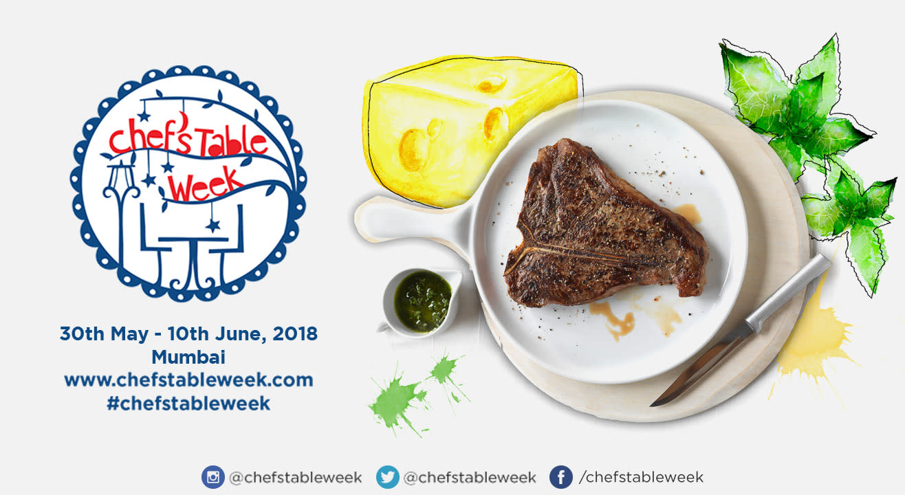 Chef's Table Week Mumbai: 30th May – 10th June, 2017