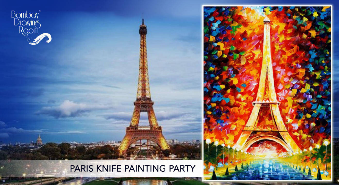 Paris Knife Painting Party by Bombay Drawing Room