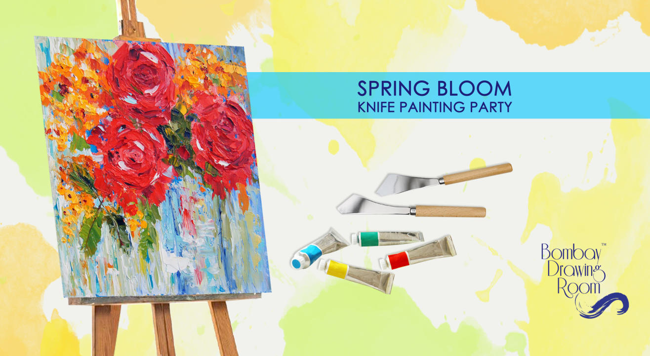 Spring Bloom Knife Painting Party by Bombay Drawing Room