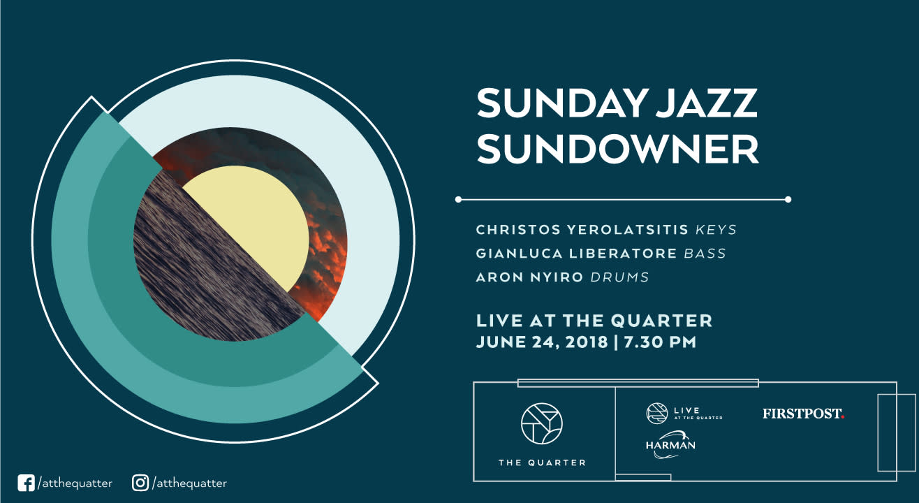 Sunday Jazz Sundowner with Christos, Sounak, Ronja, and  Saurav at The Quarter