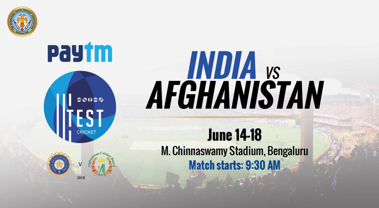 Test Match - India vs Afghanistan, Bangalore