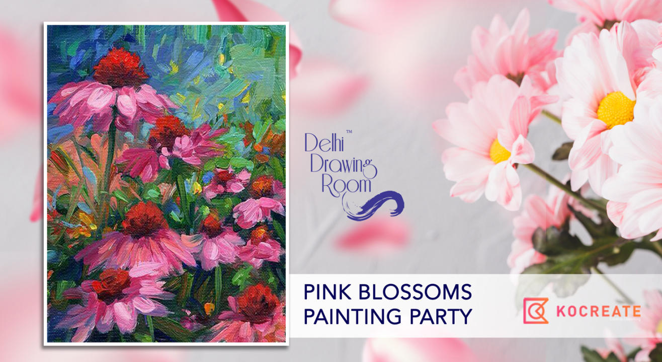 Pink Blossoms Painting Party by Delhi Drawing Room