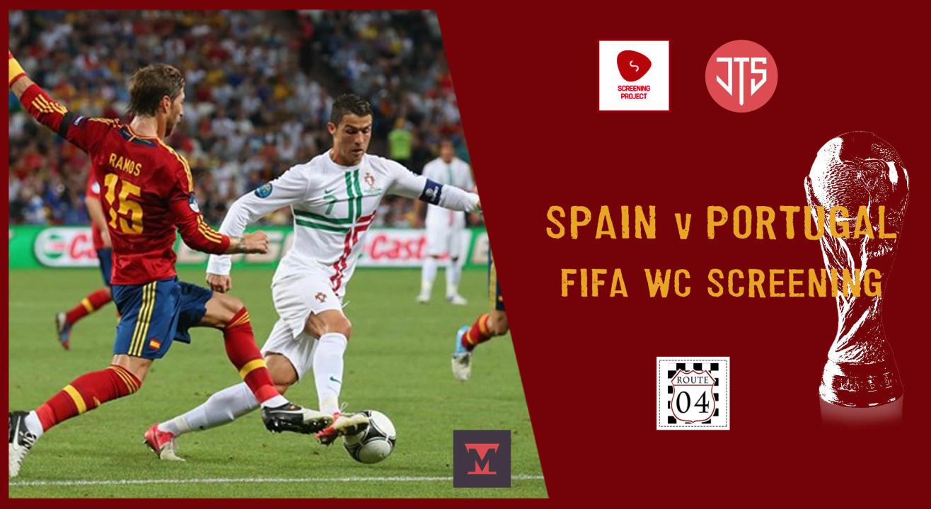 Football World Cup Screening | Spain v Portugal Delhi