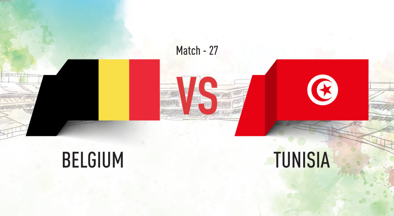 Belgium vs Tunisia Screening at Aqaba