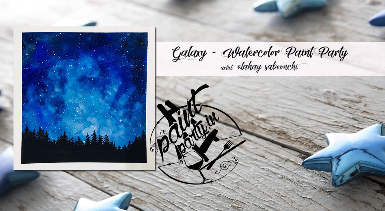 Galaxy Watercolor Paint Party