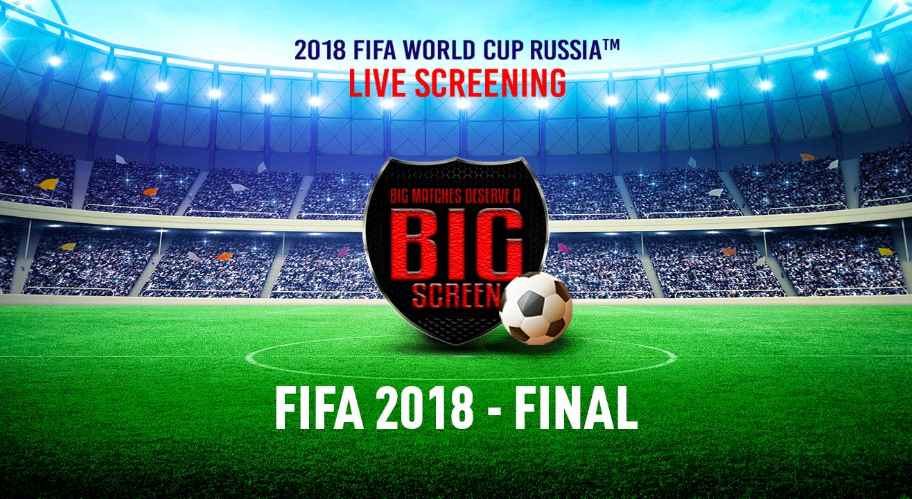 FIFA World Cup Russia 2018 - Final, Spice Cinema, Cinepolis Noida - France vs Croatia