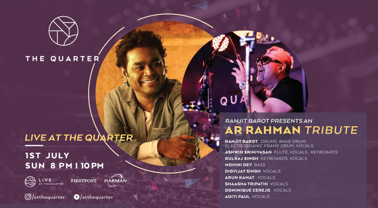 Ranjit Barot presents AR Rahman Tribute at The Quarter