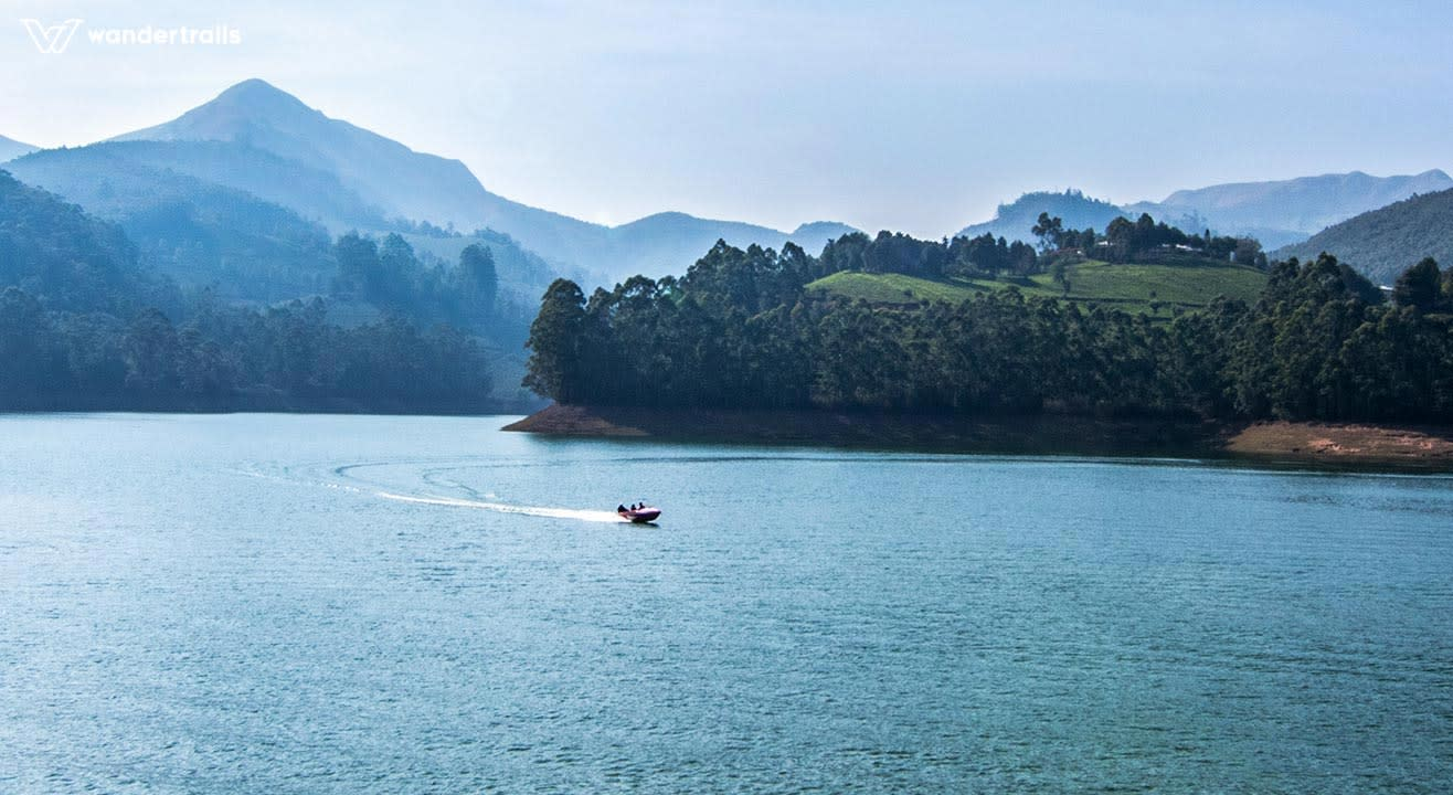Wandertrails | Speed boat ride in Mattupetty dam, Munnar