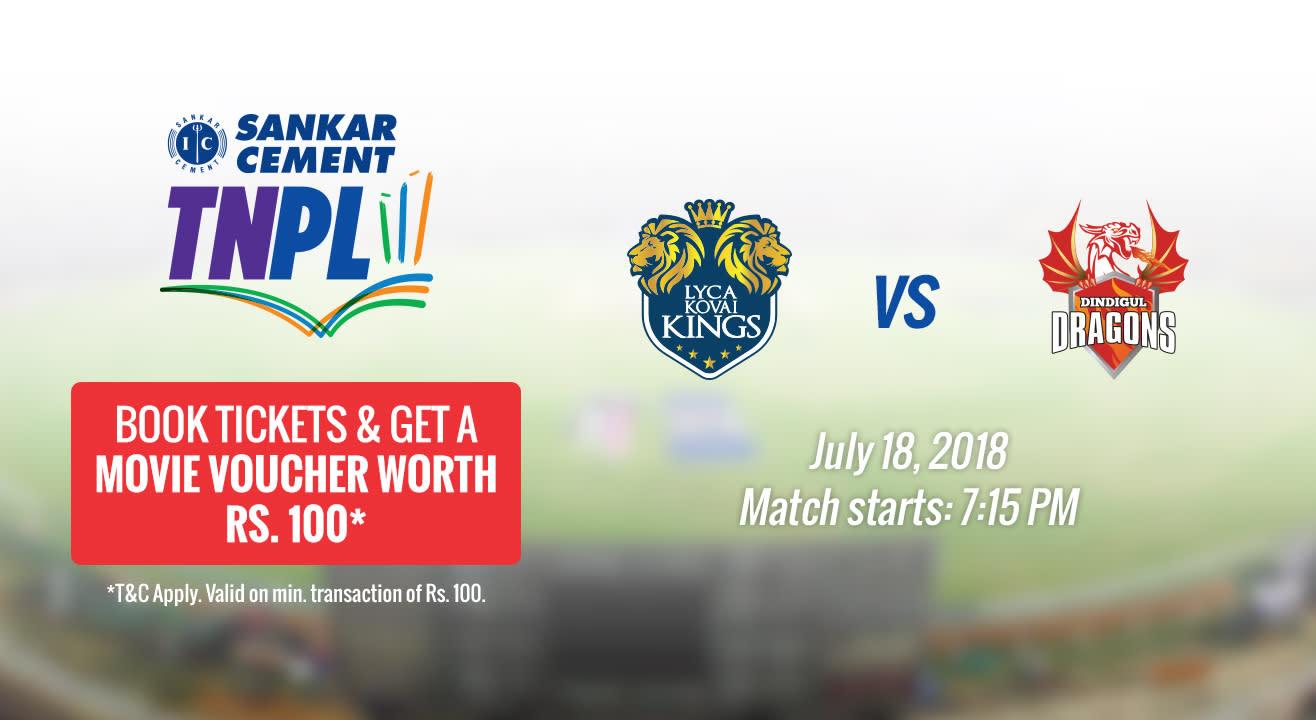 TNPL 2018 | LYCA Kovai Kings vs Dindigul Dragons