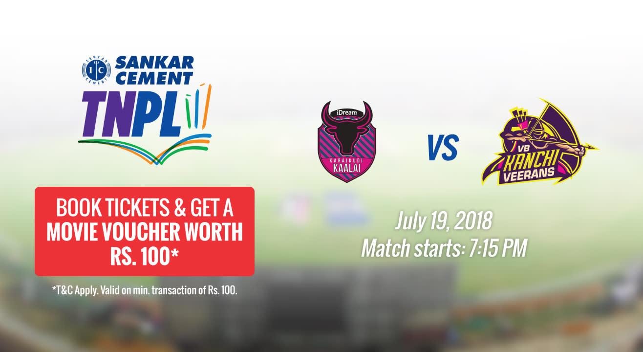 TNPL 2018 | IDREAM Karaikudi Kaalai vs VB Kanchi Veerans