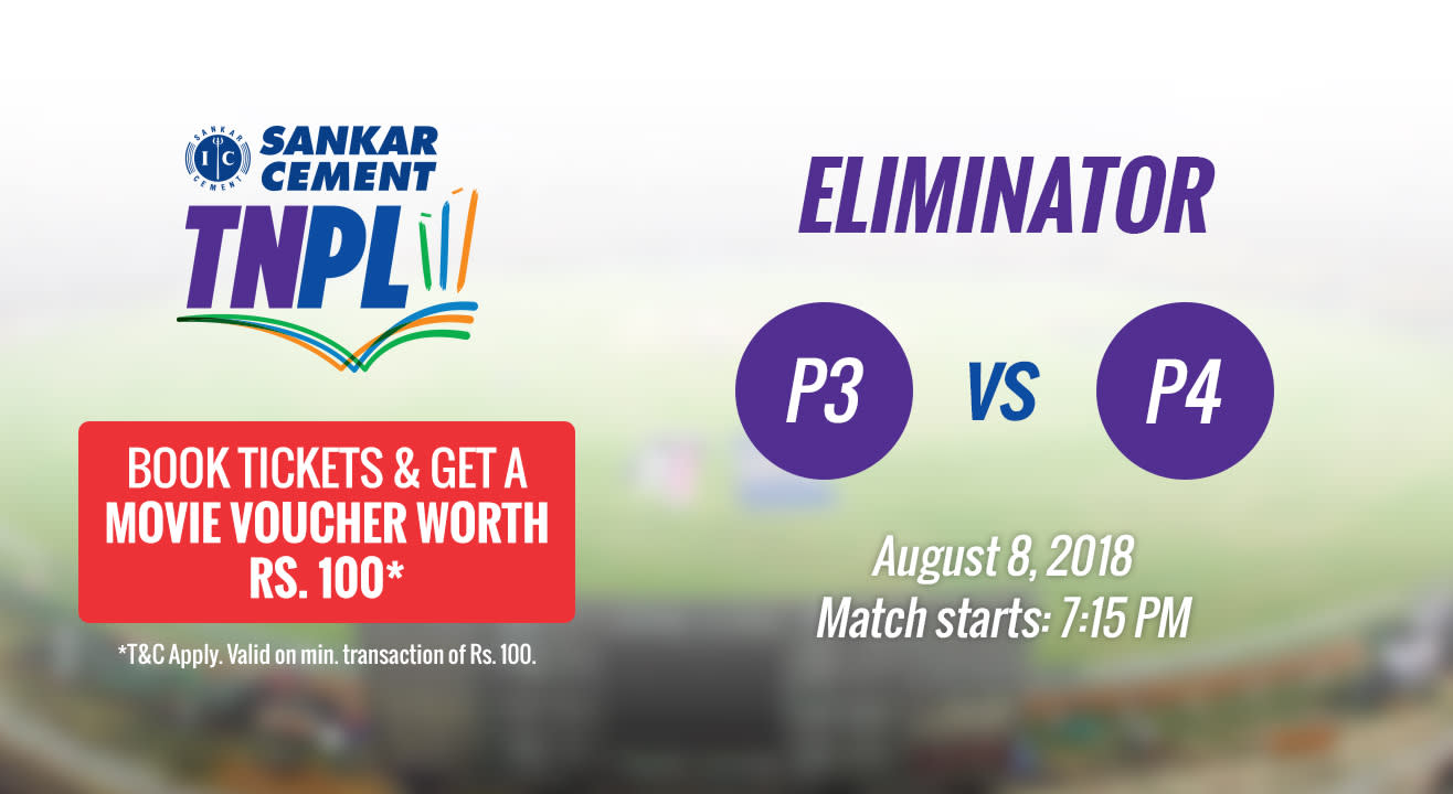 TNPL 2018 | Eliminator (3rd Position Team Vs 4th Position Team)