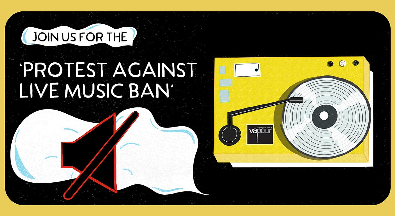 Protest against live music ban in Bangalore