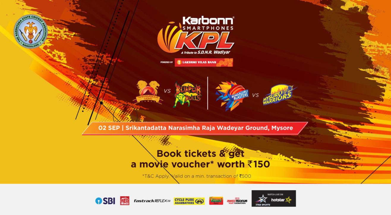 KPL 2018 | Shivamogga Lions Vs. Bijapur Bulls | Bengaluru Blasters Vs. Mysuru Warriors