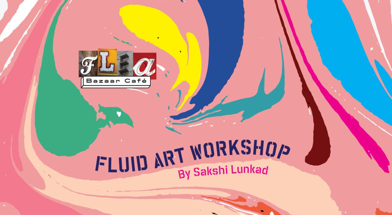 Fluid Art Workshop at Flea Bazaar Cafe