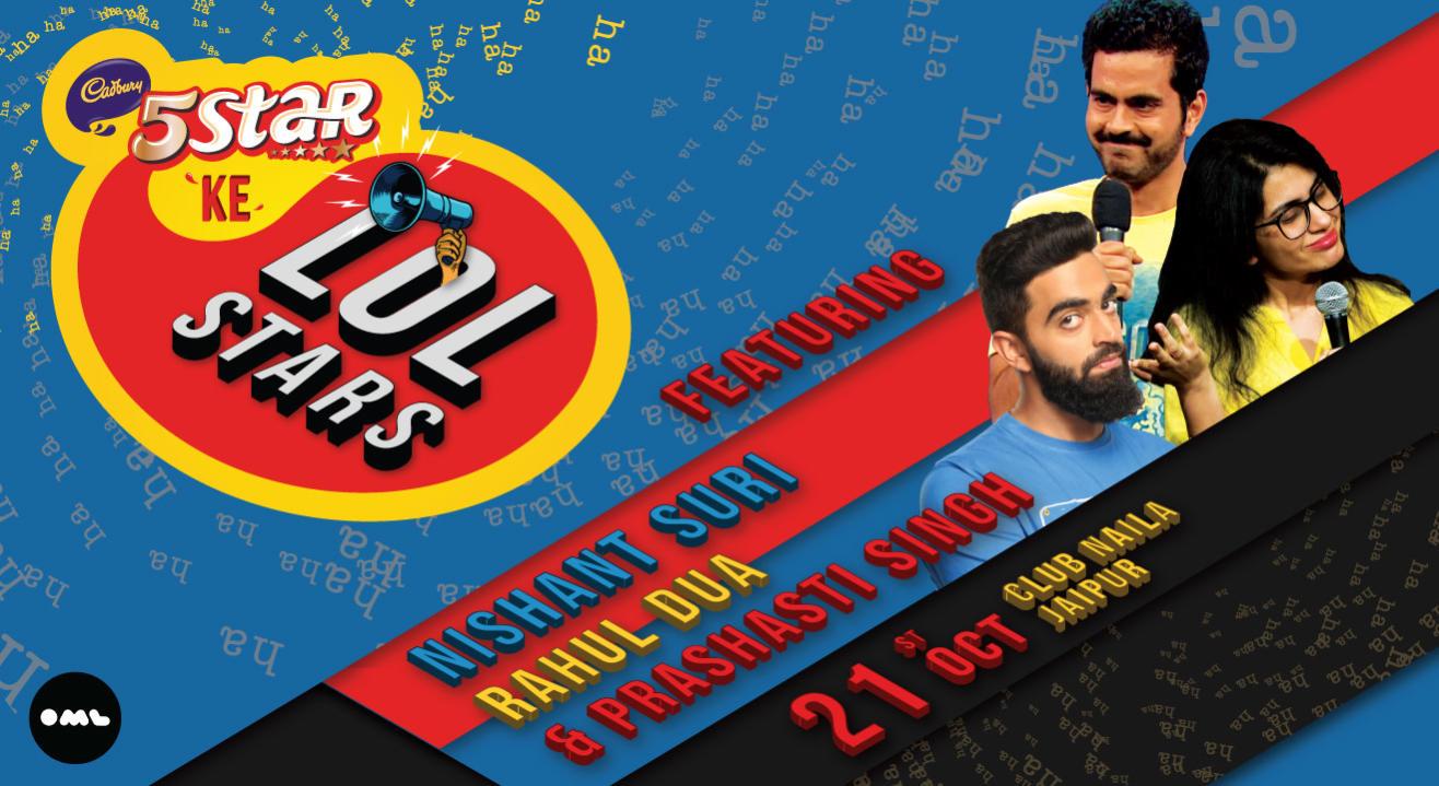 5 Star ke LOLStars feat Nishant Suri, Rahul Dua and Prashasti Singh, Jaipur