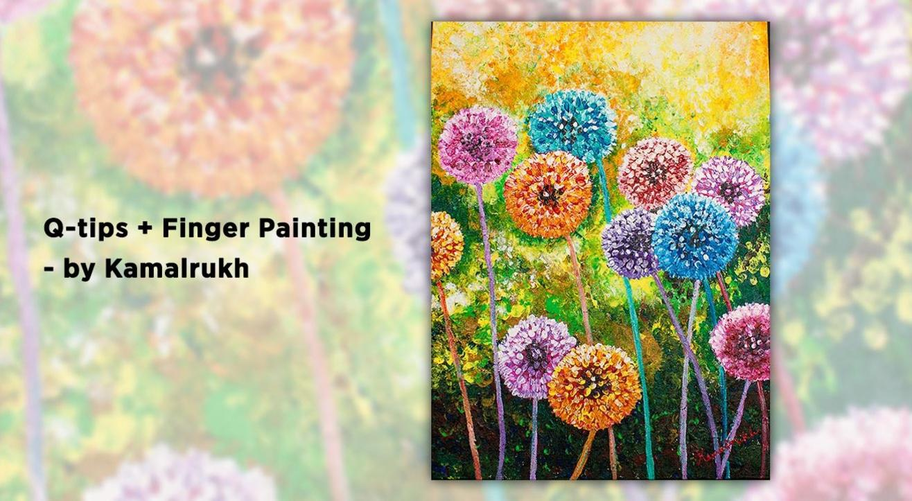 book tickets to q tips finger painting by kamalrukh