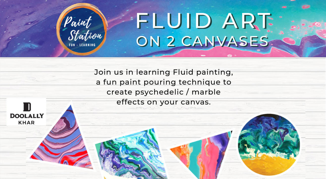 Fluid Art on 2 Canvases