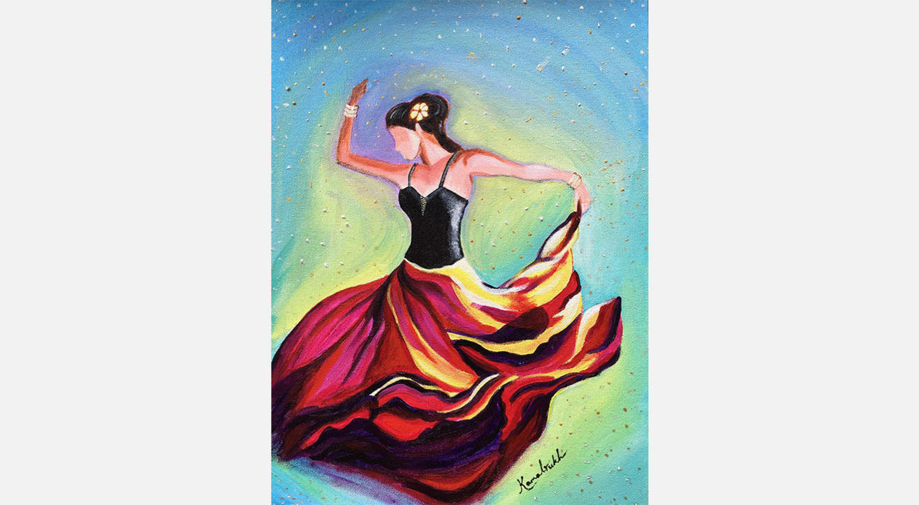 'Dance of fire'- Canvas Painting party by Kamalrukh
