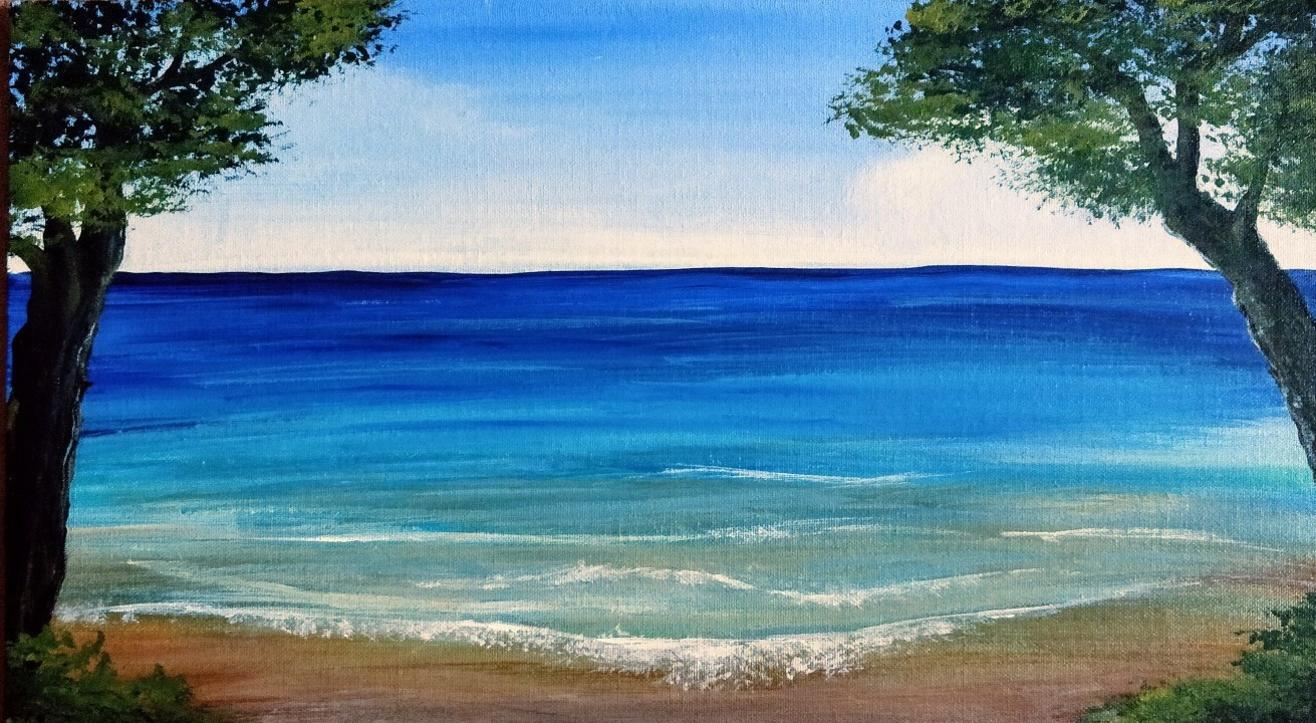 The Tranquil Sea Painting – by 'Home is where the ART is'