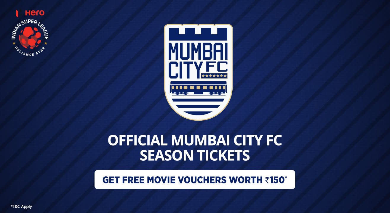 Hero Indian Super League 2018 - 19 Season Tickets: Mumbai City FC Home Matches