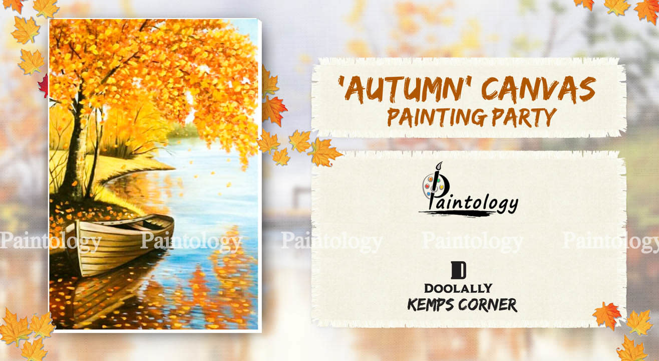 'Autumn' - Canvas Painting Party at Kemps Corner by Paintology