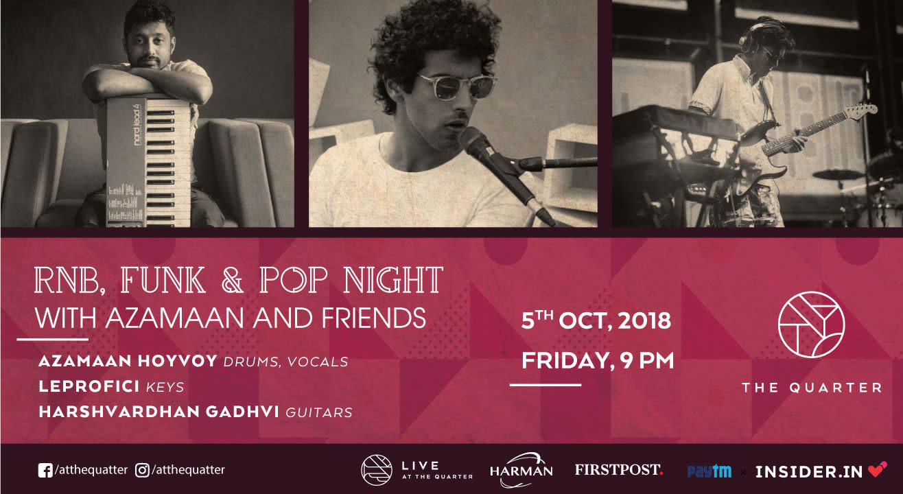 RnB, Funk & Pop Night with Azamaan and Friends at The Quarter