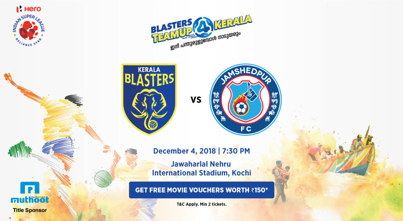 HERO Indian Super League 2018-19: Kerala Blasters FC vs Jamshedpur FC