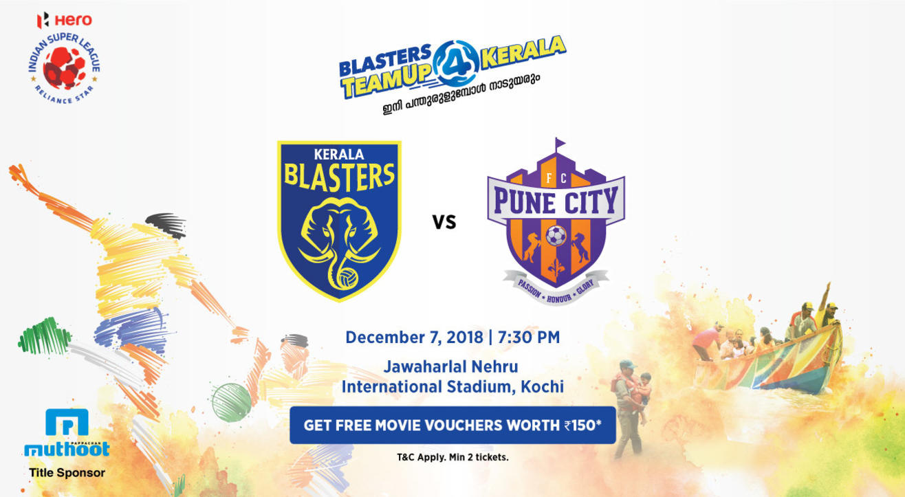 HERO Indian Super League 2018-19: Kerala Blasters FC vs Pune City FC