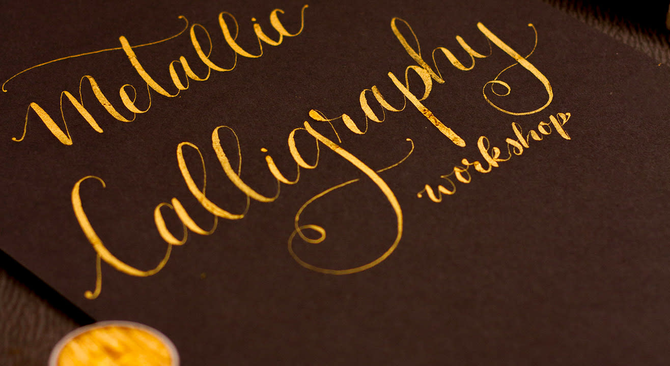 Metallic Calligraphy By Mridula Ganesan