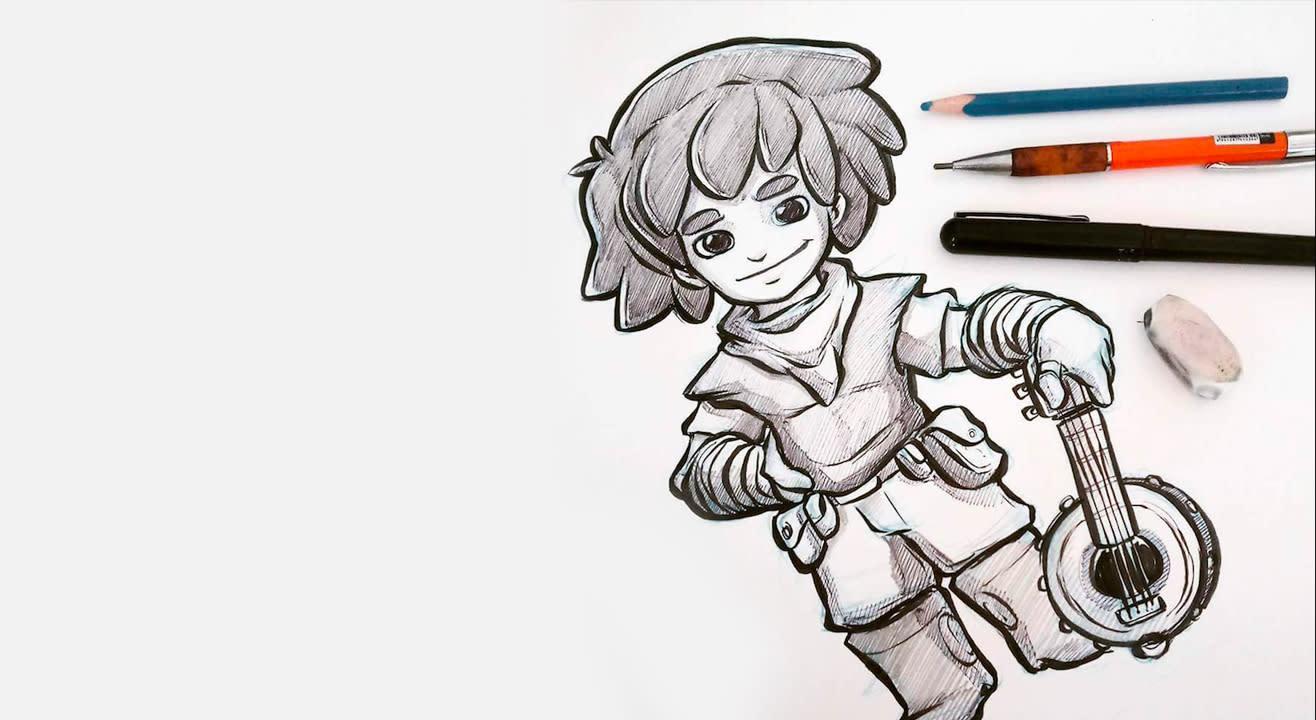 Character sketching basics with Kesh Art