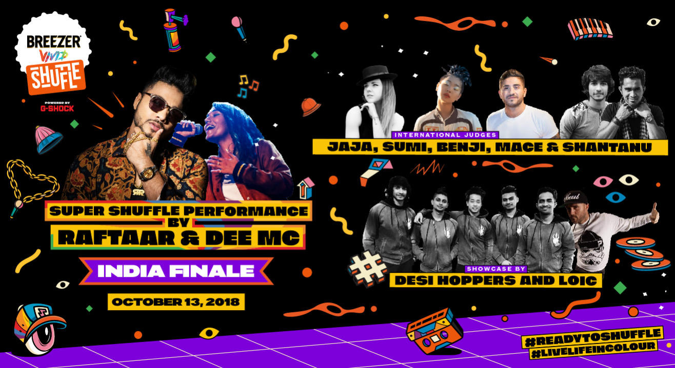 Breezer Vivid Shuffle - India's Biggest Hip-Hop Dance Festival