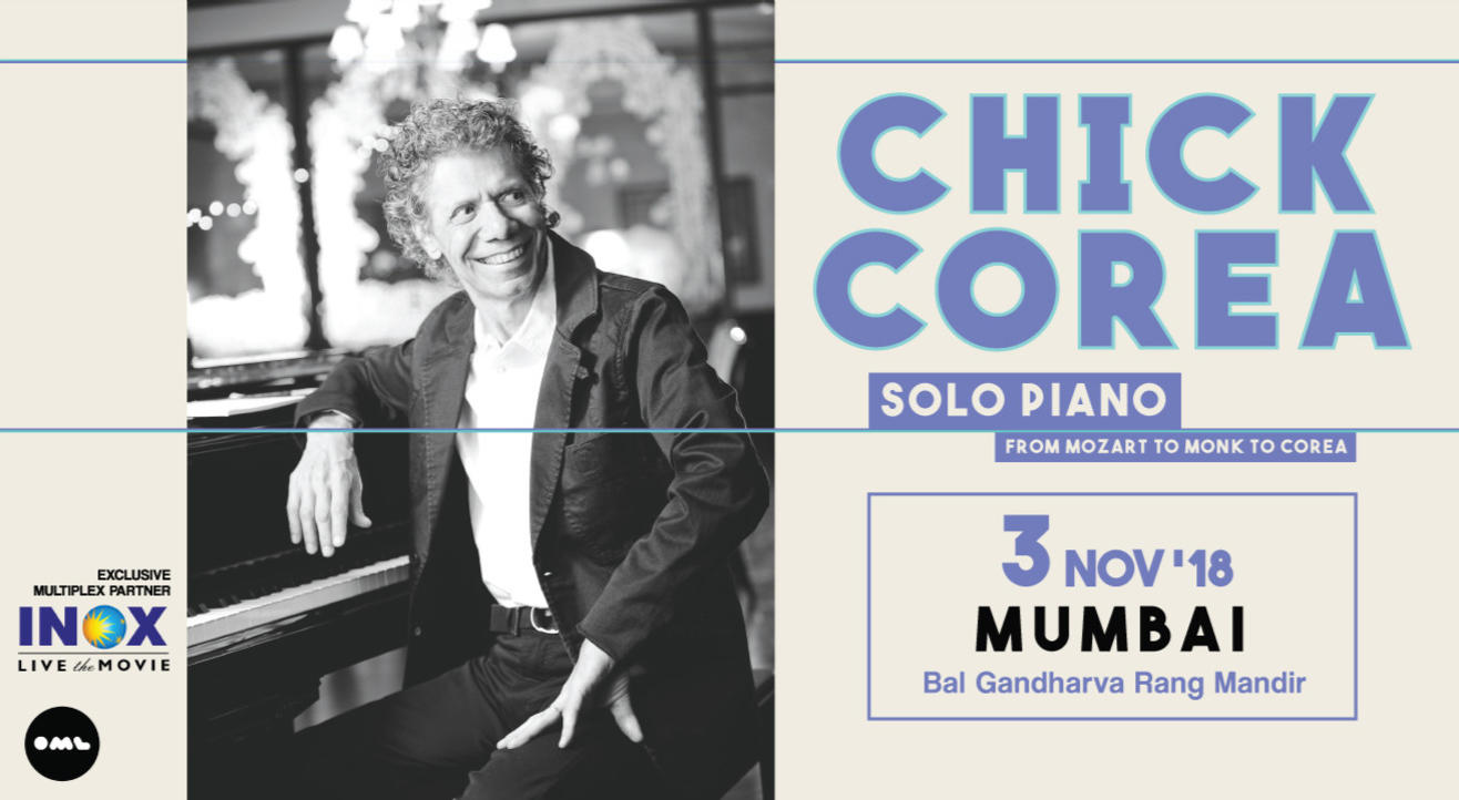 Chick Corea: Solo Piano From Mozart to Monk to Corea, Mumbai