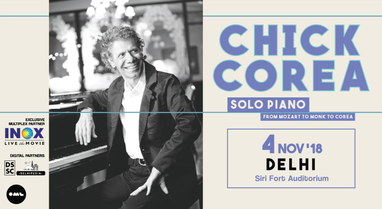 Chick Corea: Solo Piano From Mozart to Monk to Corea, Delhi