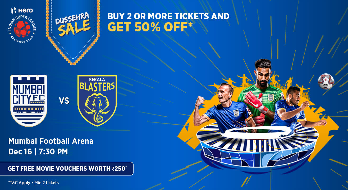 Hero Indian Super League 2018-19: Mumbai City FC vs Kerala Blasters FC
