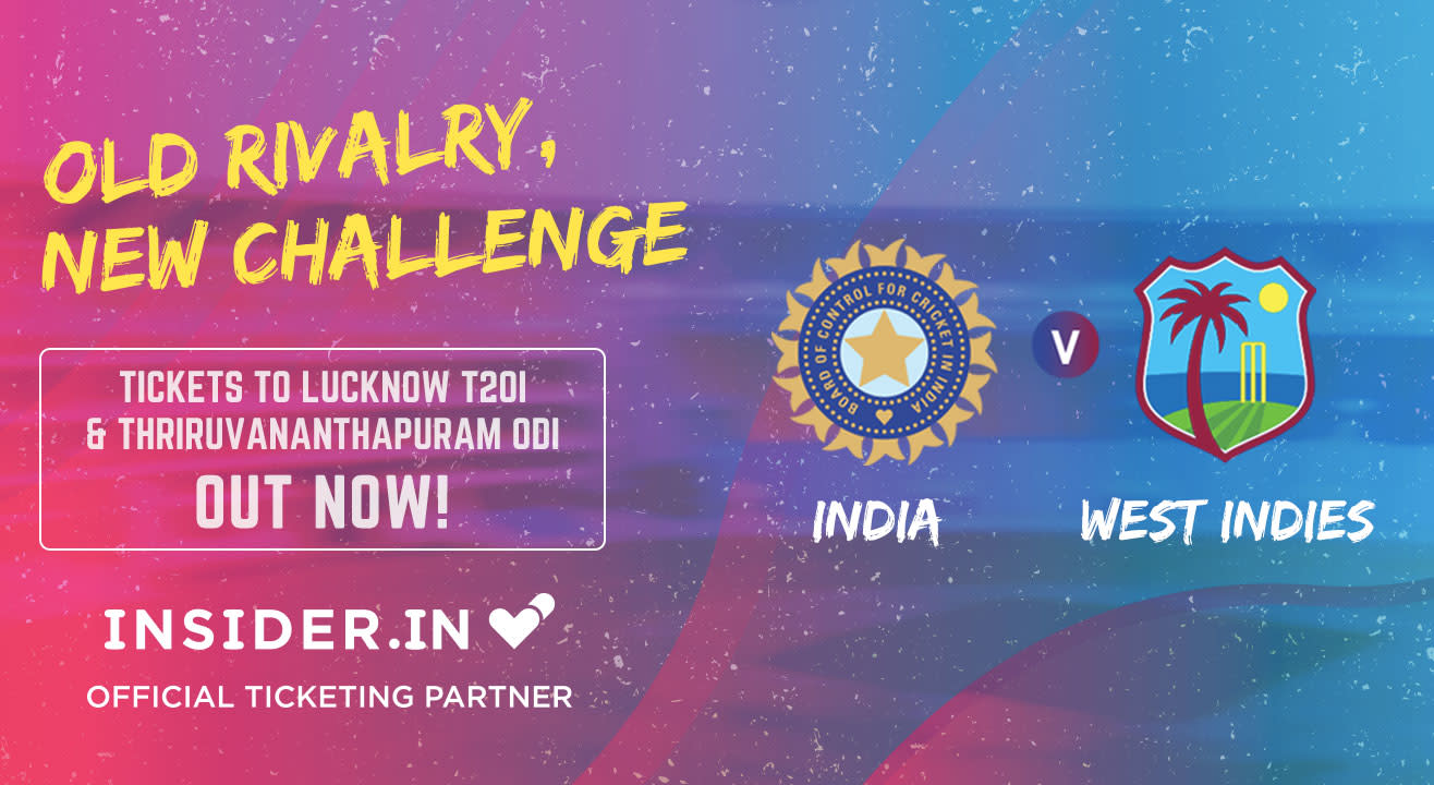 Buy Tickets To: India v West Indies Cricket Matches: October & November 2018