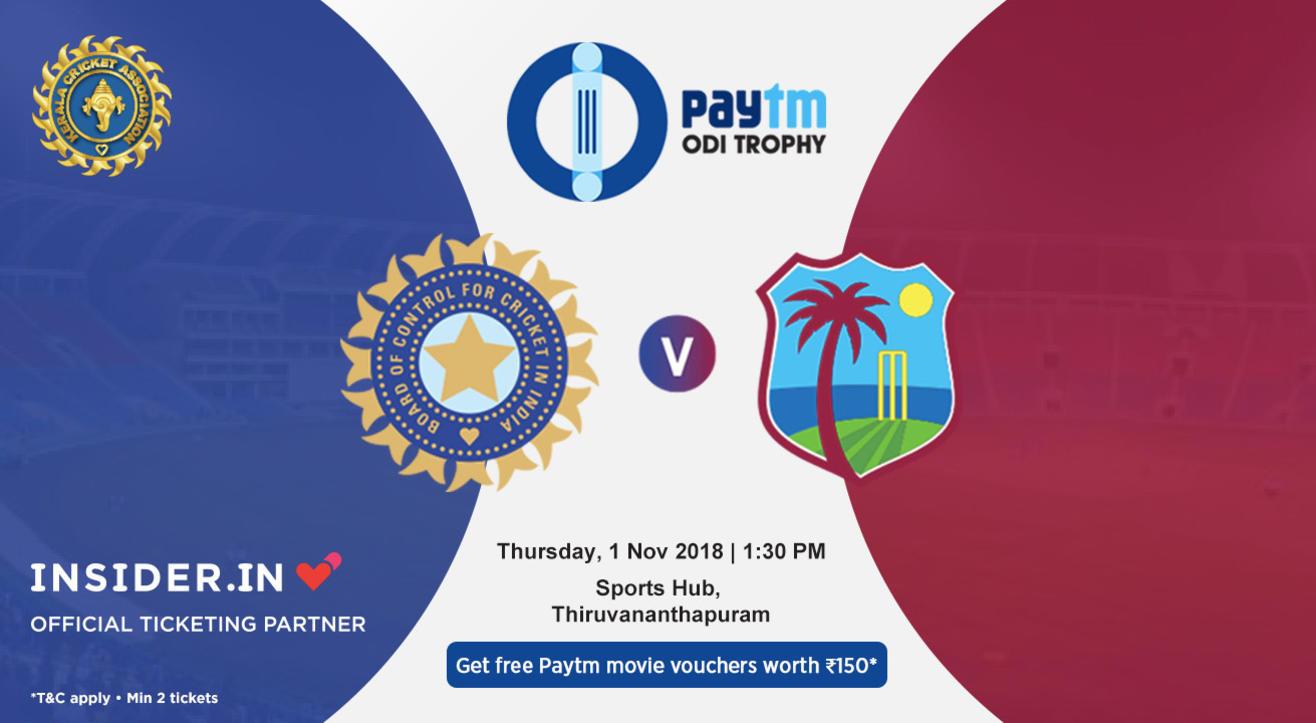 Paytm ODI Series 5th ODI: India v West Indies, Thiruvananthapuram