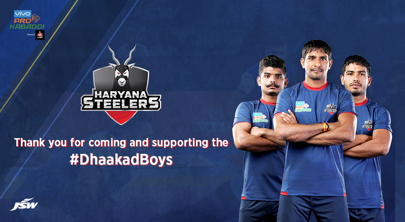 VIVO Pro Kabaddi 2019-20: Haryana Steelers Tickets, schedule, squad & more!